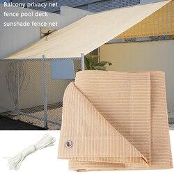 HDPE ekran zasłaniający ogród blok UV odcień wiatr pokrywa ochronna na podwórku oddychające dzianiny balkon osłona Patio żagiel przeciwsłoneczny