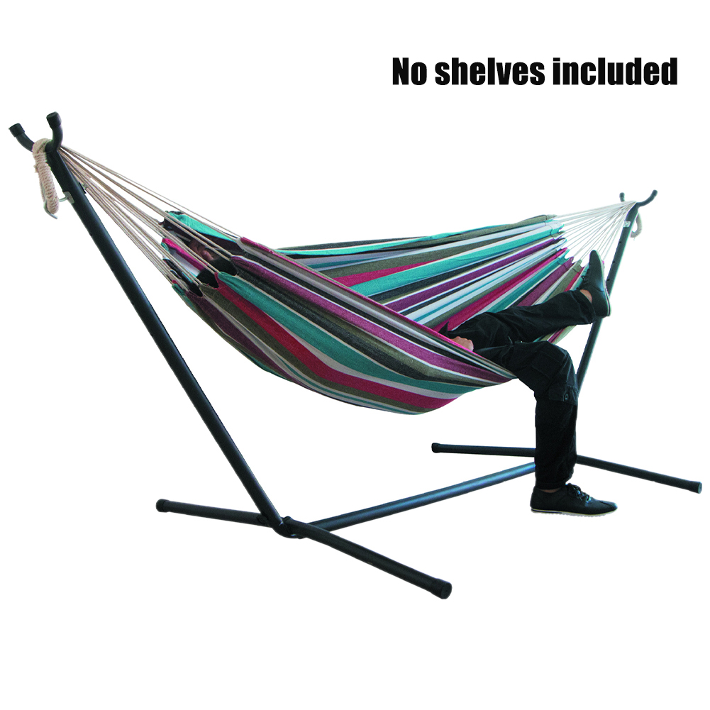 200x150cm Large For Bedroom Outdoor Camping Swinging Without Stand Canvas Hammock Stripe Hanging Foldable Portable Garden