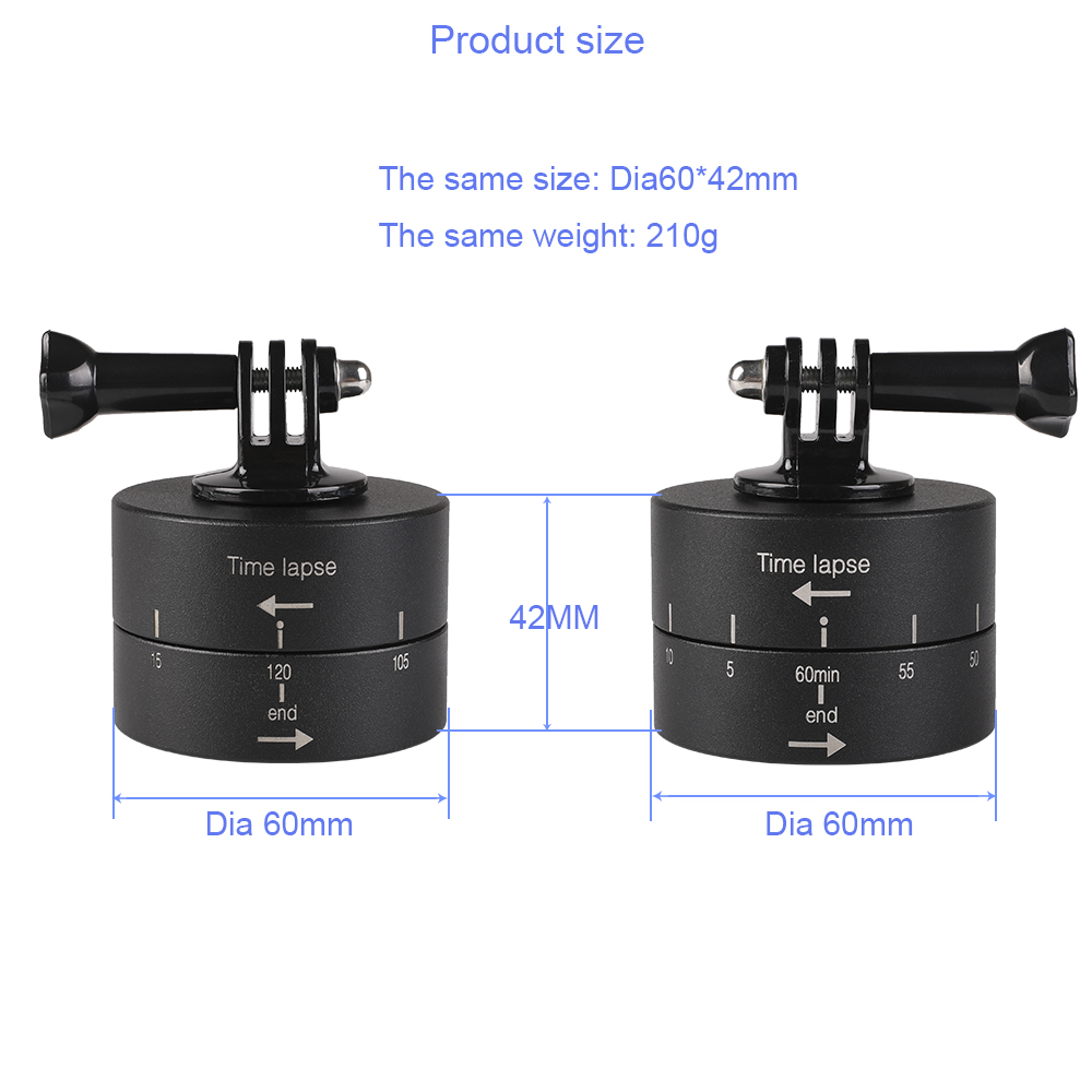 Go Motion Tripod Head Photography Delay Tilt Head 60 120 min Time Lapse Timer For Gopro7 6 5 DJI OSMO Action Camera Accessories in Sports Camcorder Cases from Consumer Electronics