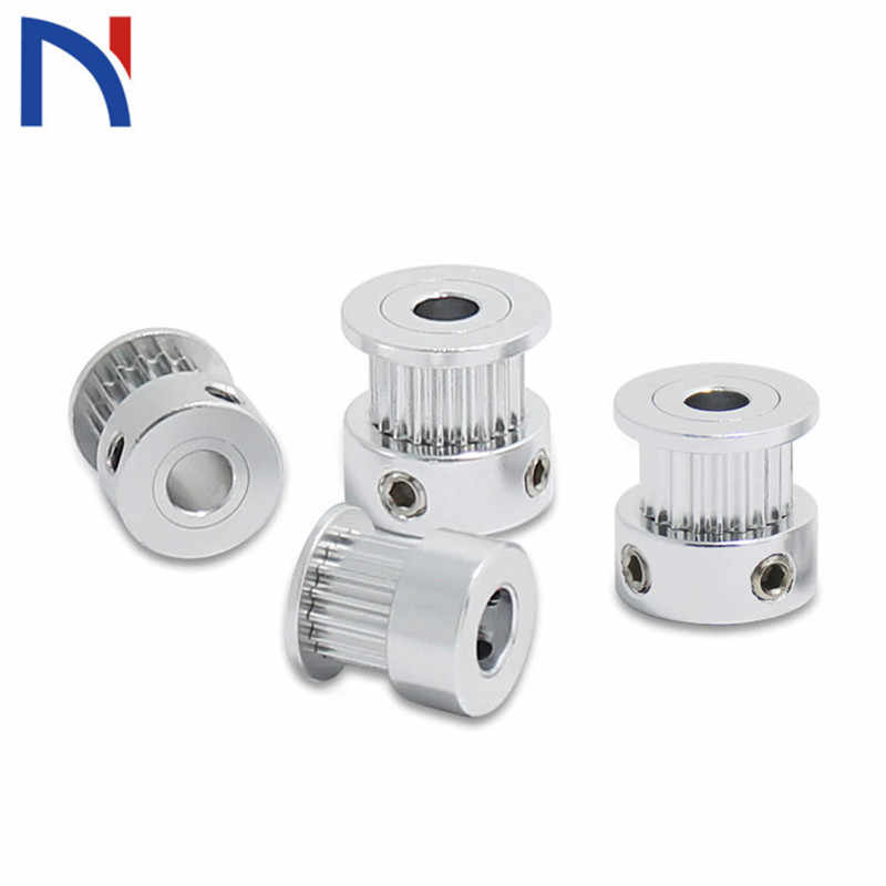 GT2 Timing Pulley 16/20 Teeth Aluminum Bore 5mm 8mm Synchronous Wheels Gear Part For Width 6mm 10mm For 3D Printer Parts
