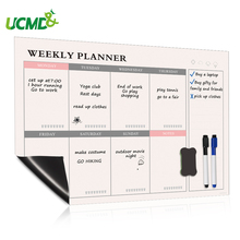 Magnetic Weekly Planner Whiteboard Calendar Fridge Magnets Daily Planner Message Note Board Kitchen Menu Chore Chart To do list 2019 table calendar 2018 weekly planner monthly plan to do list desk calendar daily rainlendar simple style desktop calendar