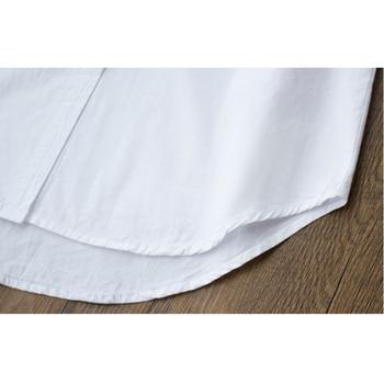 RICORIT Women Long Blouse Women White Shirt Office Ladies 100% Cotton Shirts Casual Cotton Blouse Fashion Blusas Femininas 10