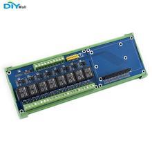WaveShare RPI บอร์ดขยาย 8 บอร์ดรีเลย์สำหรับ Raspberry Pi A +/B +/2B/3B /3B + Onboard LED RPI บอร์ดรีเลย์ (B)