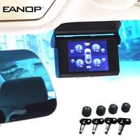 EANOP S368 Solar TPMS 2.4 inch Car Tire Pressure Monitoring System 4pcs Internal External Sensors ADAS Alarm For Universal Cars