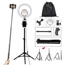 Кольцевой светильник 32 см со штативом, зеркало для макияжа, зажим для телефона, светильник для студийной фотосъемки, Прямая поставка