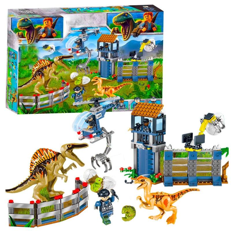 Jurassic Dinosaurs World Park 2 Set Building Block Toy Figure Indoraptor Velociraptor Triceratop T rex World Dino Brick Toys