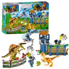 Jurassic Dinosaurs World Park 2 Set Building Block Toy Figure Indoraptor Velociraptor Triceratop T-rex Dino Brick Toys