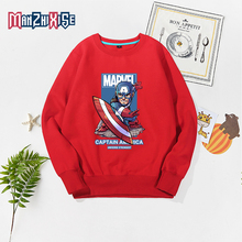 Childrens Clothing 2019 Autumn New Kids Boy Top Girl Clothes Cartoon Captain America Printing Sweatshirts Child Pullover