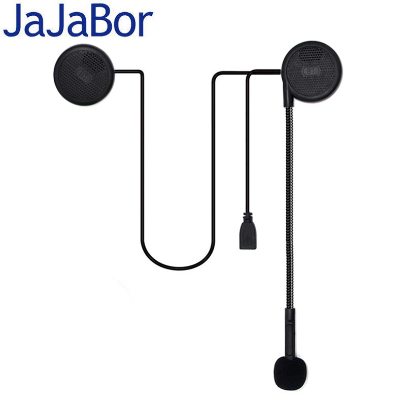 JaJaBor 3rd Generation Ultra-thin Motorcycle Helmet Wireless Bluetooth Headset Motor Earphone Speaker With Sponge Microphone