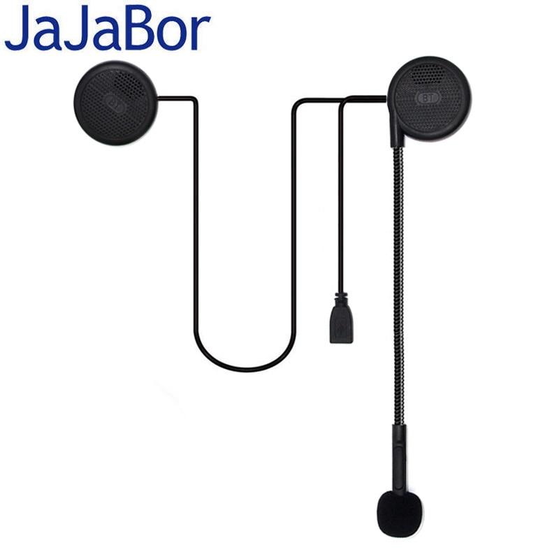 JaJaBor 3rd Generation Ultra-thin Motorcycle Helmet Wireless Bluetooth Headset Motor Earphone Speaker With Sponge Microphone