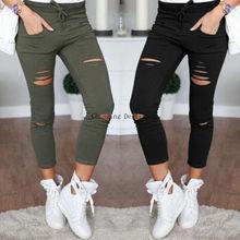 S-4XL Women New Cotton Pencil Pants Wild Leisure Trousers