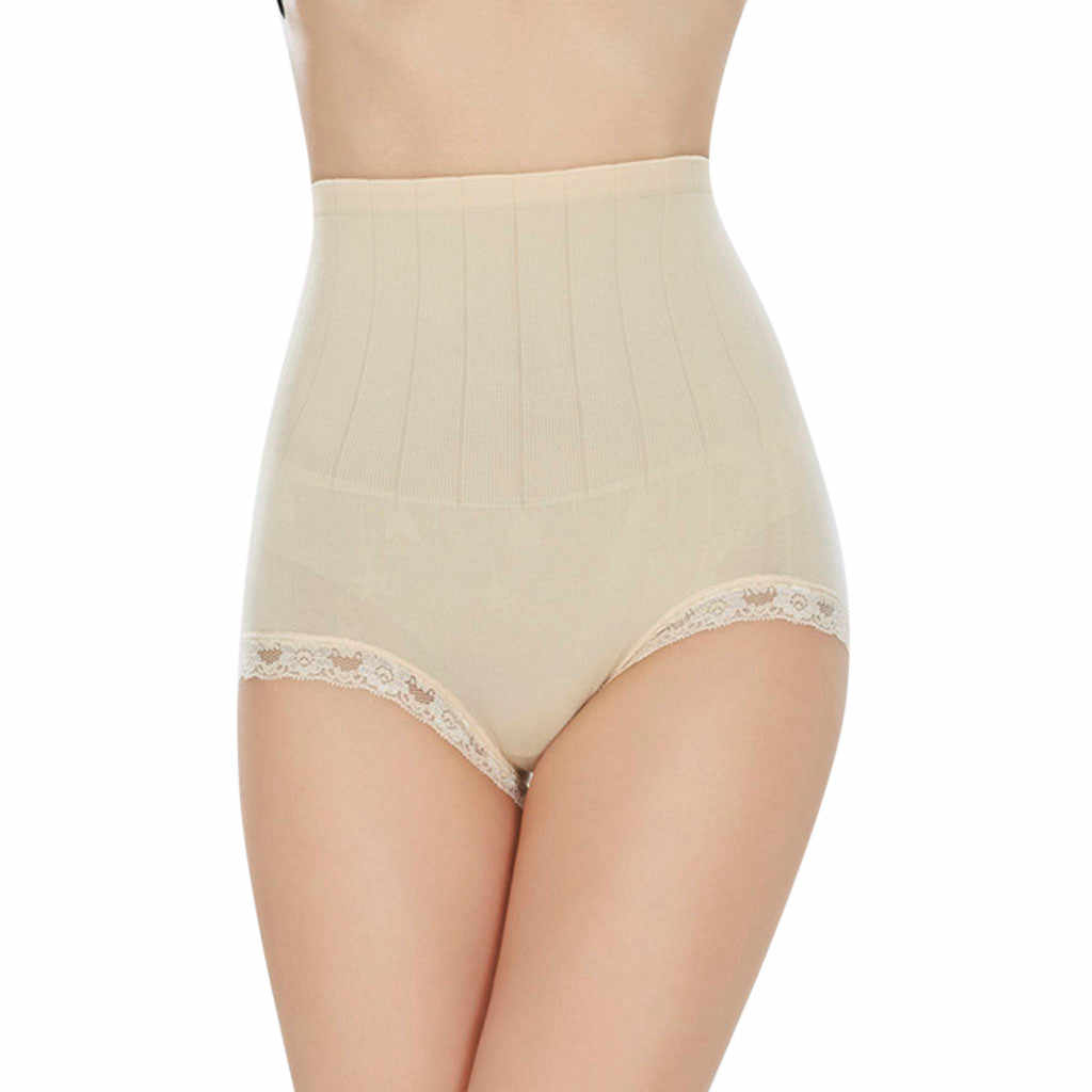 여자 레이스 솔리드 컬러 바디 셰이퍼 컨트롤 슬림 tummy 코르 셋 여성 높은 허리 shapewear 속옷 바지 레이디 엉덩이 기중 코르셋