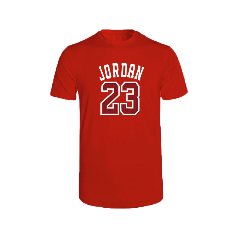 2020 New Spring,summer,T Shirt Men's 100% cotton <font><b>Short</b></font> Sleeve T-shirts High quality Boy T shirt TOPS Red <font><b>Jordan</b></font> <font><b>23</b></font> O Neck tshirt image