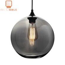 BLUBBLE Loft Hanging Lamp Glass Ball Hanging Lights Lamp Shades Translucent Gray Blackish Glass Lampshades