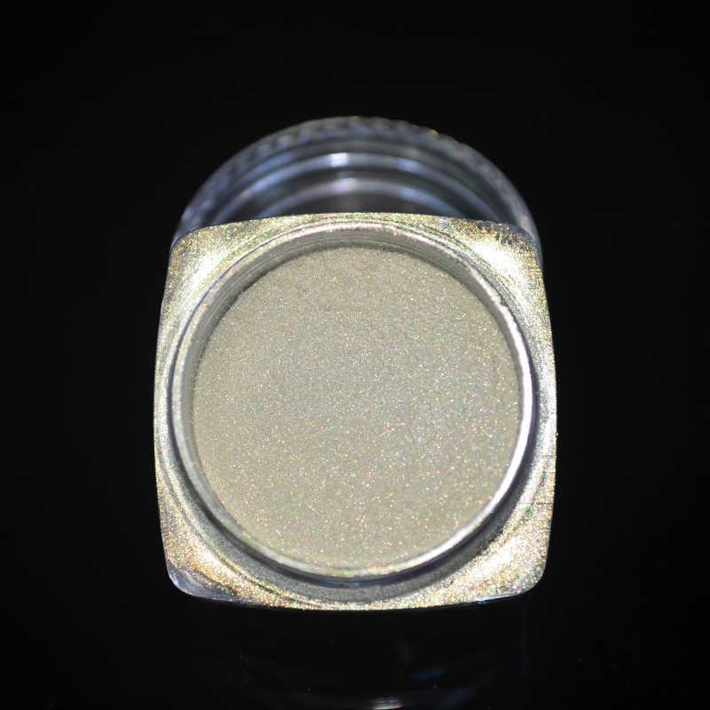 1 kutu Mermaid parlak tırnak tozu Pretty degrade pırıltılı Glitters Pigment tırnak tozu toz lazer Nail Art süslemeleri