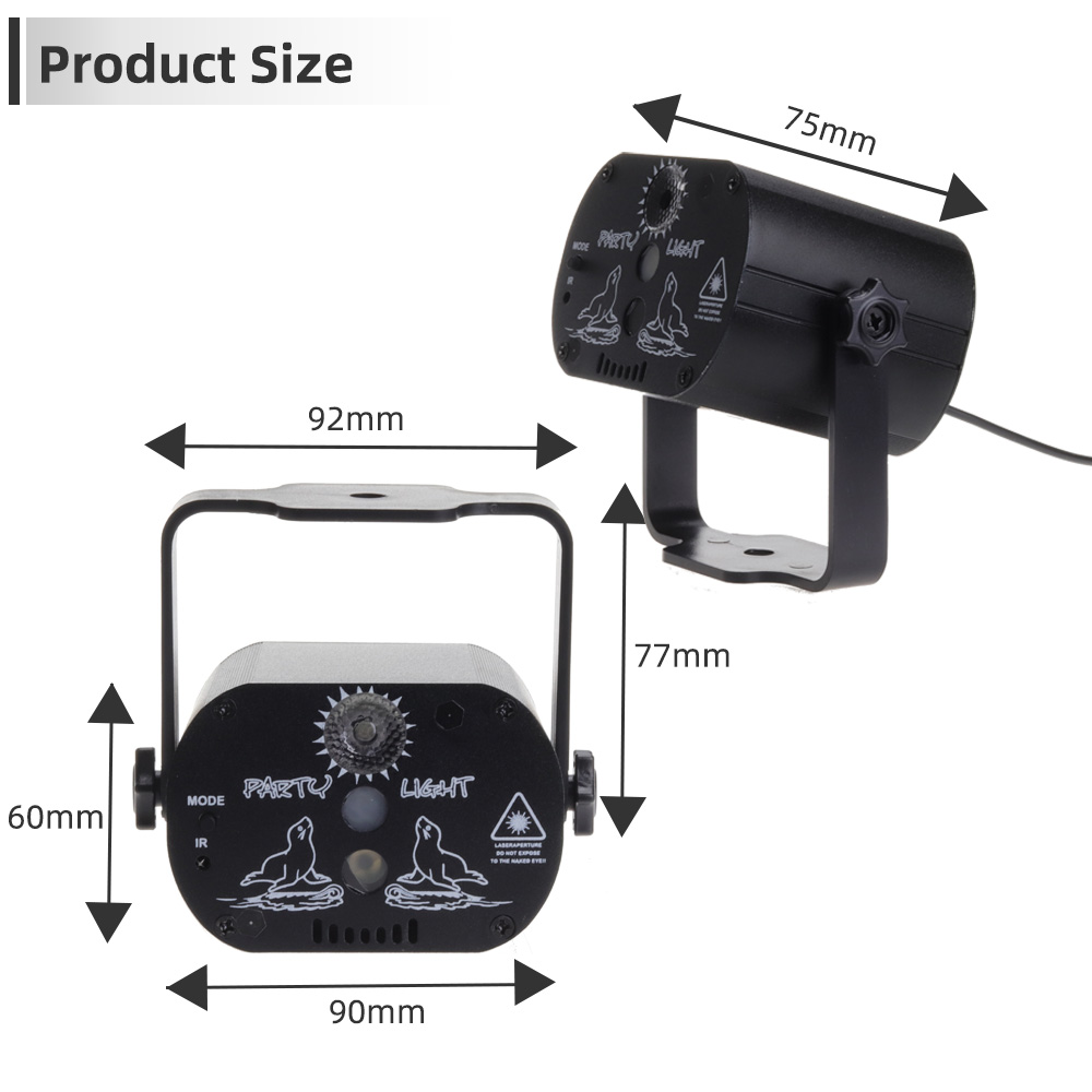 Image 4 - Aimkeeg Mini USB Charge DJ Disco Light Strobe Party Stage Lighting Effect Voice Control Laser Projector Light for Dance Floor-in Stage Lighting Effect from Lights & Lighting on
