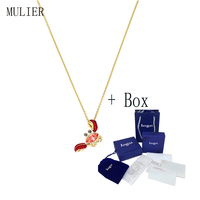 MULIER 2019 Ocean Crab Collection Bright and lovely Cute Crab Pendant 5465940 Necklace Clavicle Chain Girlfriend Gift Preferred
