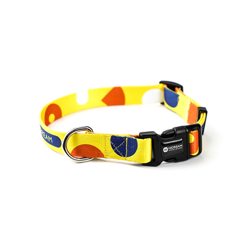 Higo Series Pet Dog Collar Leash Geometry Soft Polyester Colorful Adjustment Collars For Small Medium Pets Dog Neck belt Collar image