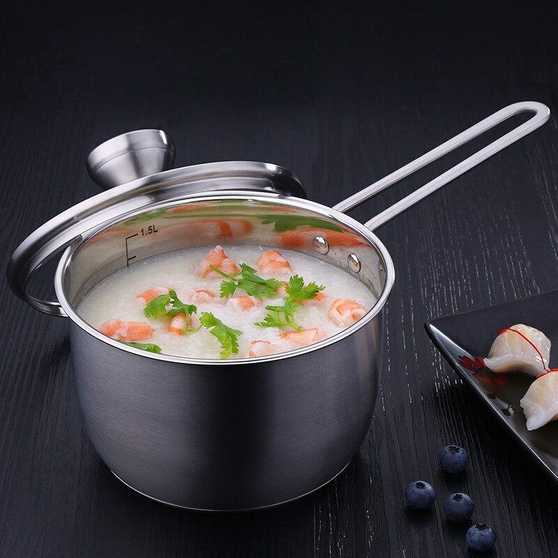 304 Pot de lait en acier inoxydable Mini enfants complément alimentaire Pot bébé cuisinier niu nai guo petit cuiseur à vapeur cuisinière nouilles instantanées