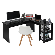 Panana  Home Office Wood Corner Computer Desk Home Office L-Shaped Workstation Table with Bookshlef Fast delivery