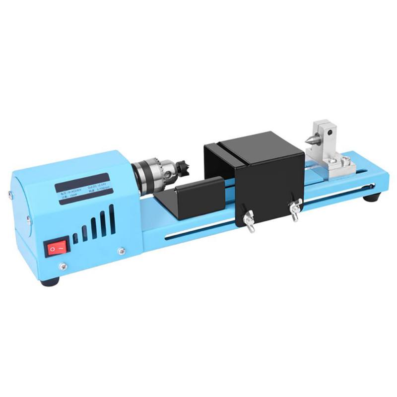 1 Pcs Wood Lathe Machine 150W DIY Mini Woodworking Lathe Milling Machines Grinding Polishing Beads Drill Rotary Tool Wood Lathe
