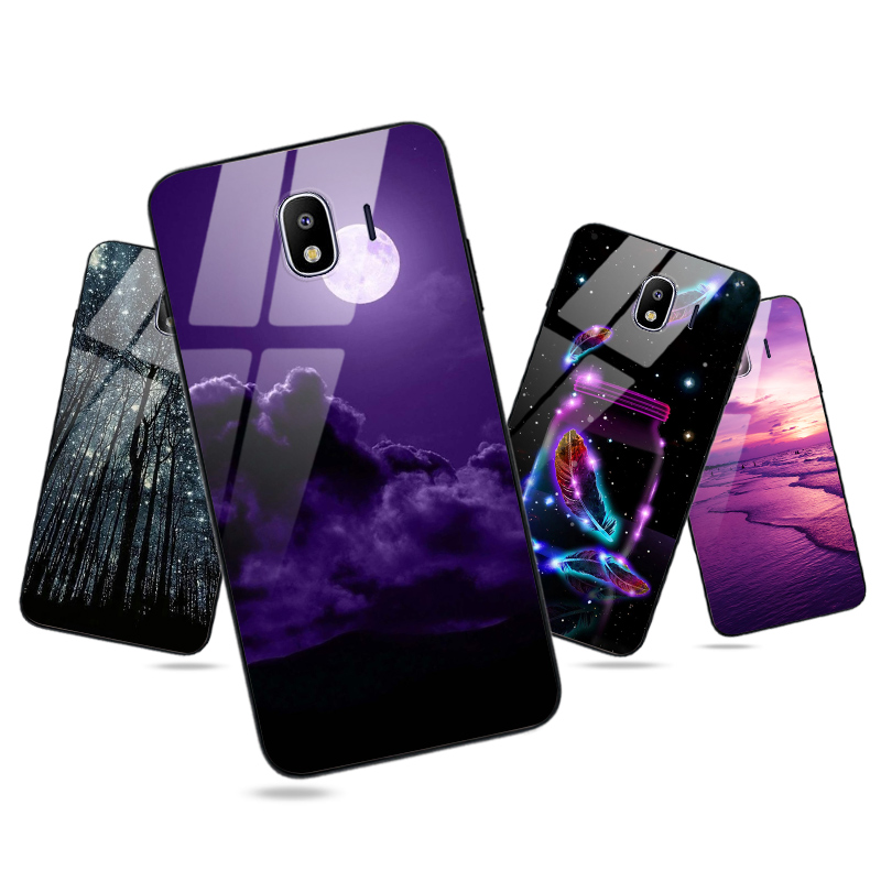 Glossy Silicone Phone Back <font><b>Cover</b></font> FOR <font><b>Samsung</b></font> <font><b>Galaxy</b></font> J7 <font><b>2016</b></font> J4 2018 J6 Plus J1 J3 2017 <font><b>J5</b></font> <font><b>Case</b></font> Bright Moon Starry Sky Coque image