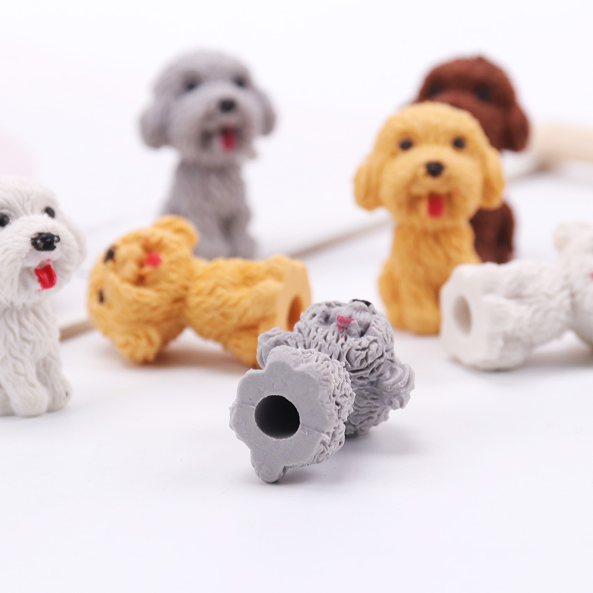 Cartoon Cute Dog Rubber Eraser Art School Supplies Office Stationery Novelty Pencil Correction School Office Supplies 1PC