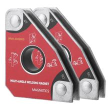 2 stücke Multi winkel Schweißen Magnet Halter 30/60/45/90 Grad Neodym Magnetische Clamp für Elektrische Schweißen Eisen Saug WM4 Halter