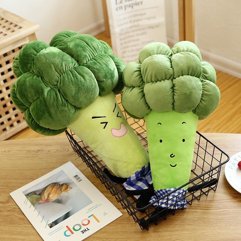 1pc 55 65cm cartoon vegetable plush toy creative broccoli plush pillow children soft stuffed toys children birthday gift WJ126 in Stuffed Plush Plants from Toys Hobbies
