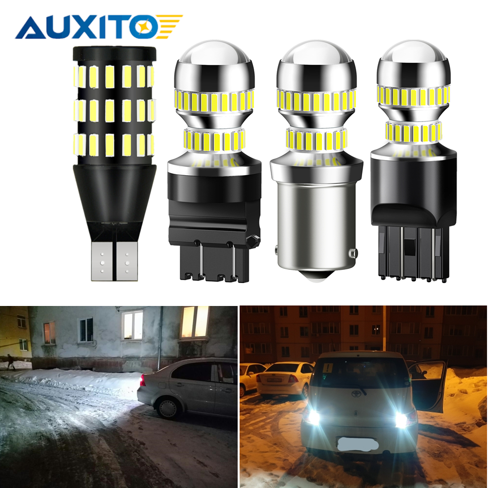 2pcs Super Bright 6000K White T15 T20 T25 Led Lamp 12V W16W P21W P27W W21W For PEUGEOT 407 SW 206 CC 407 2008 208 5008 3008 SUV image