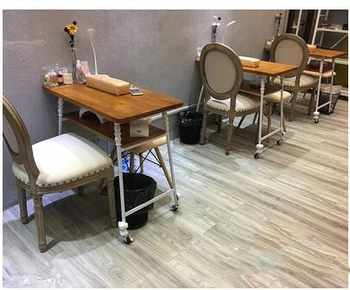 New single double triple solid wood double nail table simple fashion nail table and chair set nail table specials