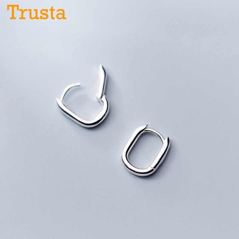 925 en argent Sterling cerceau géométrique oreille manchette pince boucles d'oreilles pour les femmes sans Piercing mode boucles d'oreilles bijoux DA421