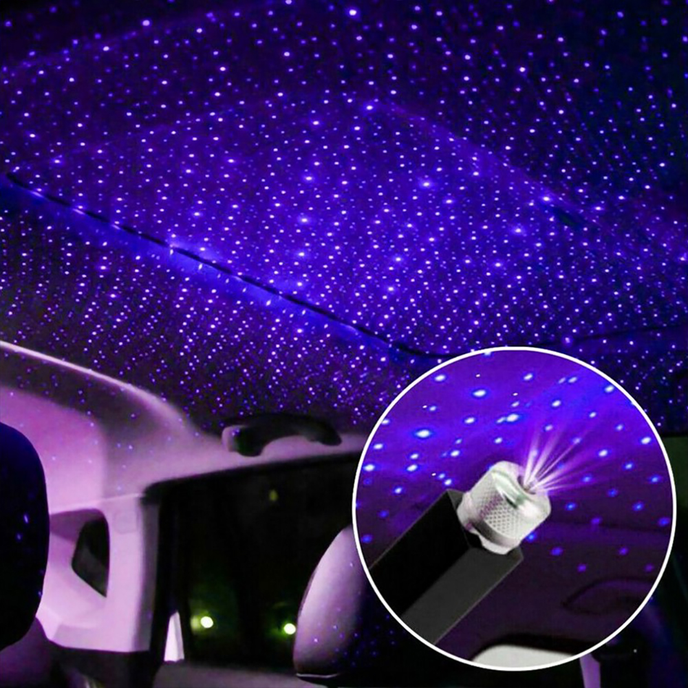 Mini LED Car Roof Star Night Light proyector atmósfera Galaxy Lámpara USB Lámpara decorativa ajustable decoración Interior del coche Luz
