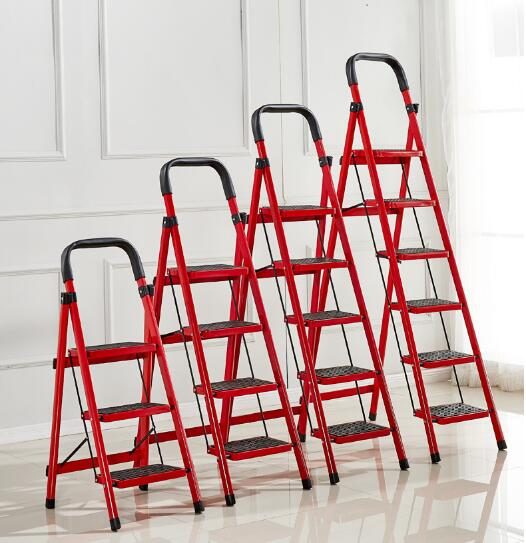 Multi-use Step Ladder Outdoor Fishing Chair Beach Step Stool Rescuing Ladder 5kg Household Portable Steel Collapsed Step Stool