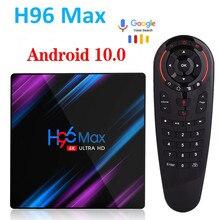Reproductor multimedia H96 MAX RK3318 Dispositivo de TV inteligente, Android 10, 4GB de Ram, 32GB 64GB de Rom, 4K, Youtube, decodificador de señal, 2GB, 16 GB