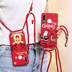 Boże narodzenie smycz miękkie prezent Case dla Huawei Honor 9S 9C 9X 9A 8A 8X grać 4T Pro 9A X10 Mate 30 S 20i 20 10i X10 10 9 Lite okładka
