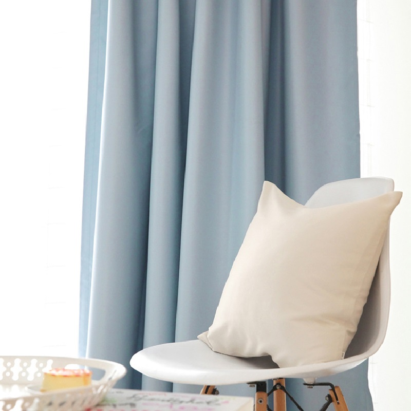 Modern And Contracted Plain Curtain Cloth High Shade Pure Color Sitting Curtains For Living Room For Bedroom