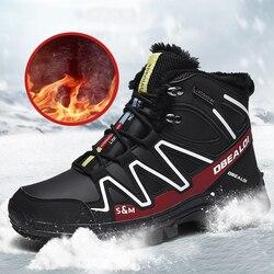 2020 Men Boots Winter Plush Warm Snow Boots Casual Men Winter Solomon Hiking Shoes Men Footwear Ankle Boots Zapatos De Hombre 48