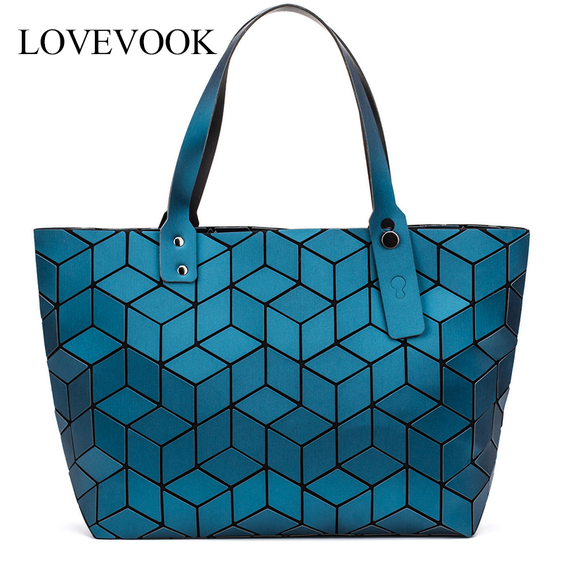 LOVEVOOK Women Shoulder Bags Luxury Handbag Women Bags Designer Foldable Tote Bag Female Large Capacity Geometric Bag Classic