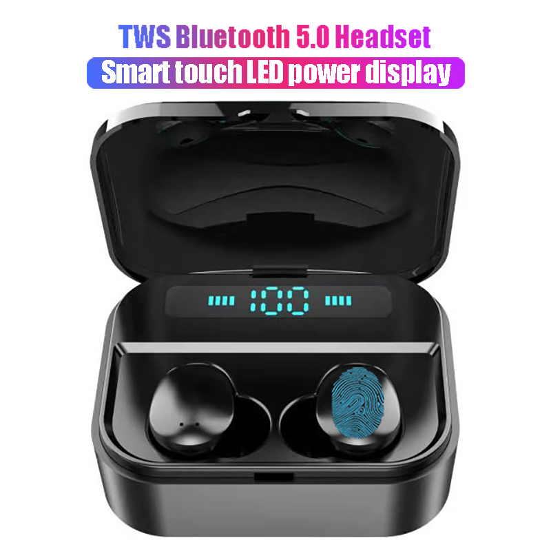 X7 digital display touch Bluetooth Headset 3500mAh mobile power TWS stereo with mic Earphone mini waterproof Wireless earbuds