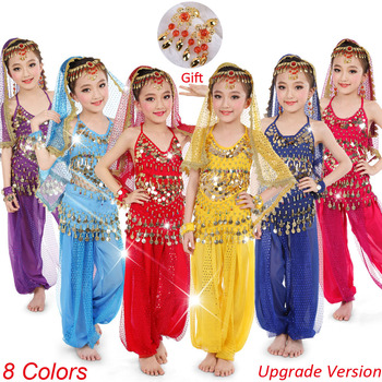 Kids Belly Dance Costumes Set For Girls