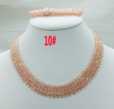 Новая цена-Африка, Нигерия, самый популярный ювелирный набор с кристаллами для невесты - Окраска металла: 10