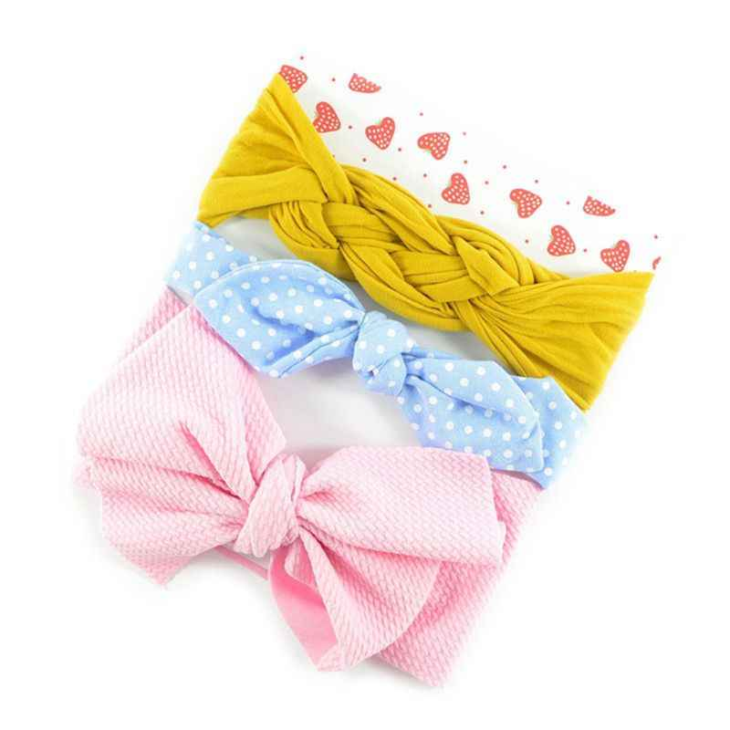 3 Pcs/set New Baby Kids Headdress Bow Hair Band Cute Infants Knotted Twist Hairband Newborn Headbands Photo Props