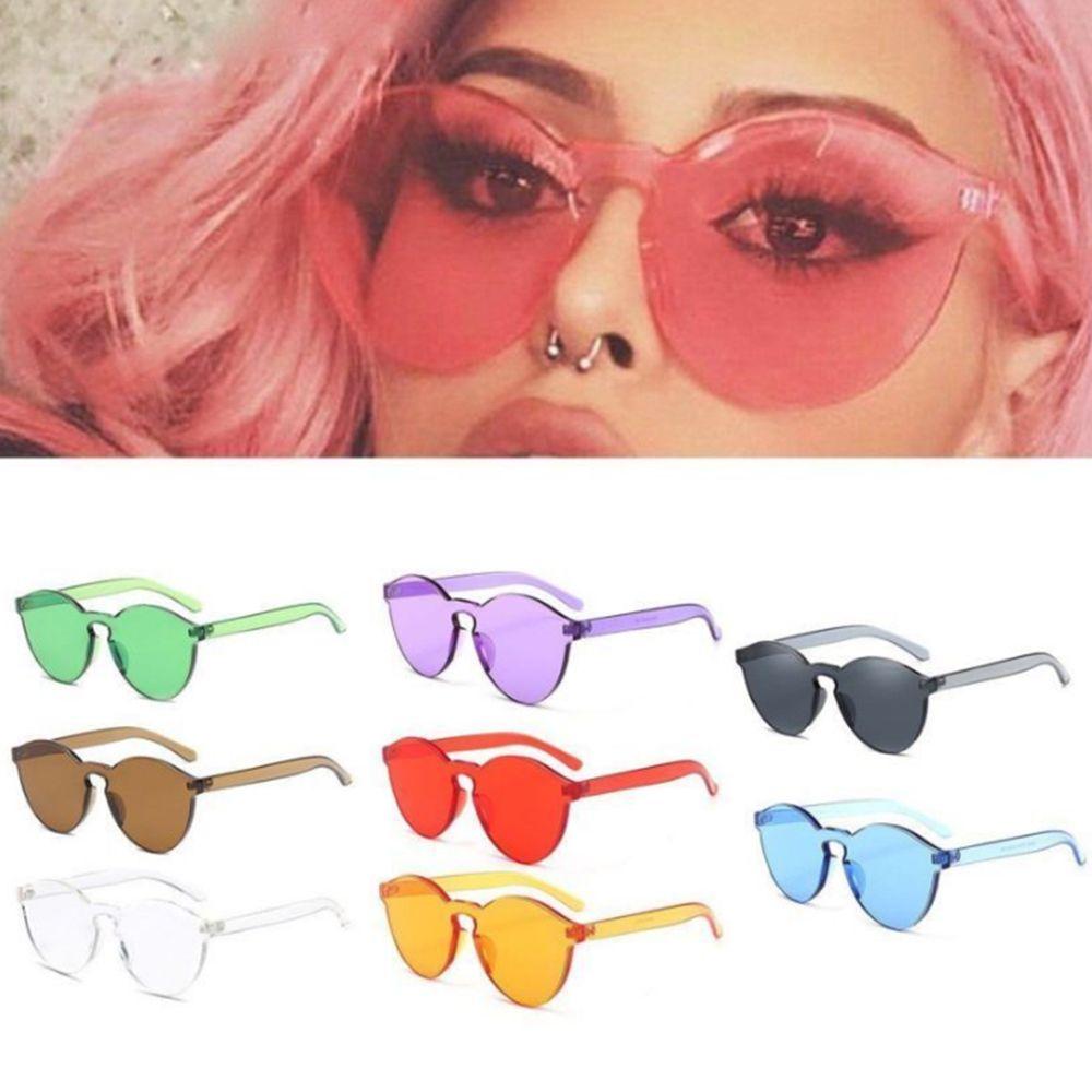 Fashion Retro Frameless Sunglasses Sun Glasses Lens Sunglasses Women Men Eyewear Frame Driver Goggles Car Accessories