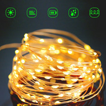 10m/20m Dimmable Outdoor Solar String Lights Fairy Holiday Christmas Tree Party Garland Solar Garden Waterproof Light Decoration(China)