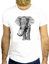 T SHIRT JODE Z2544 ELEPHANT ELEFANTE TATTOO MAORI COOL NICE ANIMAL PET AFRICA GG Fashion Men T Shirt Free Shipping Print