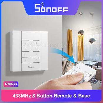 Itead Sonoff RM433 433MHz zdalny 8 przycisk RF zdalny jeden klucz parowanie działa z 433Mhz Sonoff Smart Home przełączniki za pośrednictwem eWeLink tanie i dobre opinie Sonoff RM433 Remote Ready-to-go 433Mhz Remote 8 kanałów DC 12V (model 27A) 86x45x12 5(mm) 86x86x15 88(mm) PC V0 Sonoff RF Slampher 4CH Pro 4CH Pro R2 iFan03
