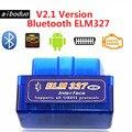 Super Mini ELM327 Bluetooth V2.1 OBD2 беспроводной автомобильный диагностический сканер универсальный OBD II Автомобильный сканер работает на Android