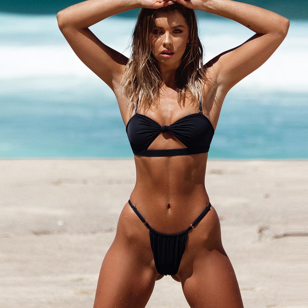 2020 Women Bikini Set Sexy Push UP Low Waist Swimsuit Beachwear Monokini