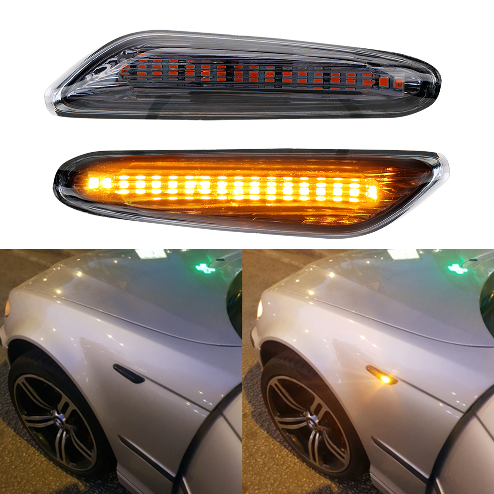 For BMW Accessories E90 E91 E92 E60 E87 E82 E61LED Side Marker DC 12V Car Indicator Turn Signal Lights Error Free Signal for Car image
